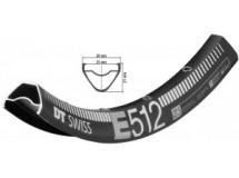 jante DT Swiss E 512 27,5' noir