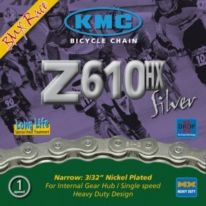Chaîne KMC Z610HX p trans Moyeu