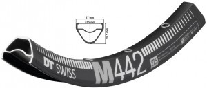 jante DT Swiss M 442 27,5' noir