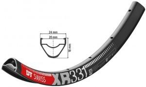 jante DT Swiss XR 331 29' noir