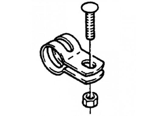 Collier de tube rond 22 mm