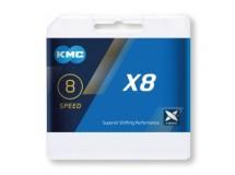chaîne KMC X8 argent/gris