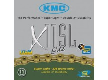 chaîne KMC X-11-SL Gold, axe creux