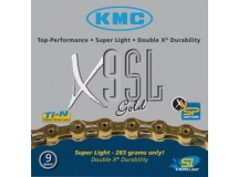 Chaîne KMC X-9-SL- gold axe creux