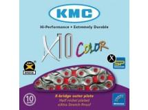 chaîne KMC X-10-Red Vivid