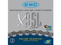 Chaîne KMC X-9-SL- argent axe creux