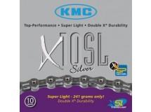 Chaîne KMC X-10-SL-Silver axe creux