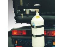 Support reservoir d'oxygéne. Monté sur rail profilé en C