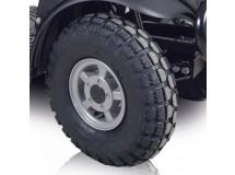 Modification des 4 pneus standards (⌀ 320 mm- larg. 90 mm) en grand pneus (⌀  370 mm, Larg. 110 mm) - Montage uniquement sur les nouveaux Mini-Crosser