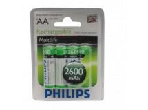 Pile accu Philips Mignon,Kit de 4