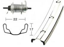 roue AR28x1.75 moy.rétro 3V I-Motion 36t