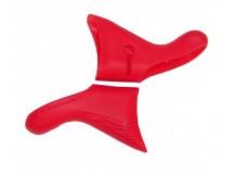 caoutchouc poignée rouge (1 paire)