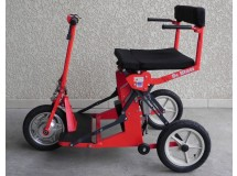 Scooter Pliant R30 Rouge avec accoudoirs – Bonne Affaire