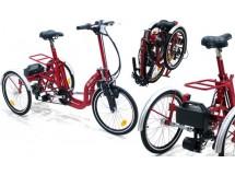 Tricycle Pliant R32 rouge adulte électrique - avec Poignée de démarrage - modèle de démonstration