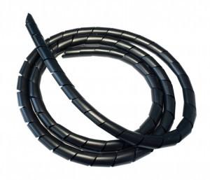 bande spirale noir flexible
