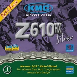 Chaîne KMC Z610HX p moyeu vit.int.