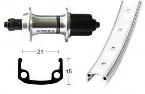 roue AR 26x1.9 TX800 8/10v argent QR 36t