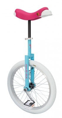 monocycle QU-AX Luxus 20' bleu/rose vif