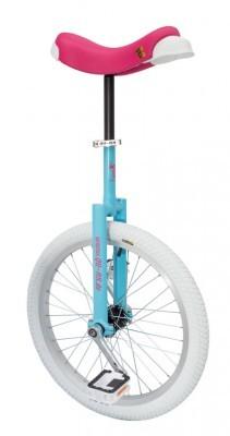 monocycle QU-AX Luxus 20' bleu/rose vif