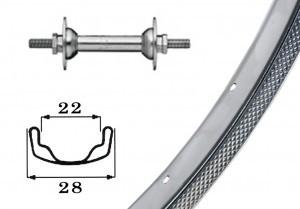 RoueAV 26x1.75acier,chromee  36L