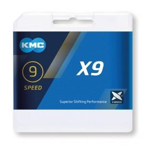 chaîne KMC X9 argent/gris