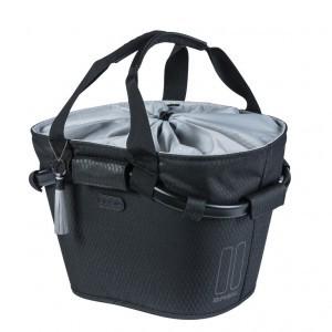 sacoche cintre Basil Noir CarryAll Front