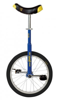 monocycle QU-AX Luxus 18' bleu