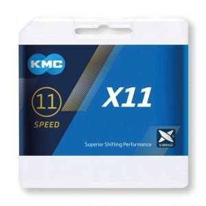 chaîne KMC X11 argent/noir