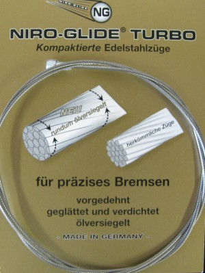 Conduit int.câble,inox.,embout transv.
