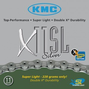 Chaîne KMC X-11-SL-Silver, axe creux