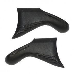 caoutchouc poignée noir (1 paire)