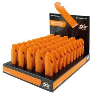 présentoir démonte-pneus SKS orange