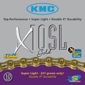 Chaîne KMC X-10-SL-Gold axe creux