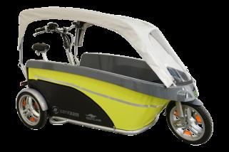 GoCab Vélo taxi pour le transport de huit d'enfants.
